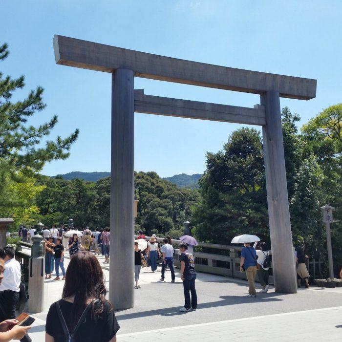 伊勢神宮の宇治橋(鳥羽わんわんパラダイスホテルの周辺)