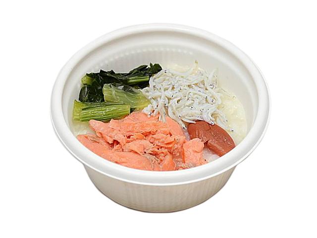 セブンイレブンで買える人気の低カロリー食品「炙り焼き紅鮭と梅の和風がゆ」