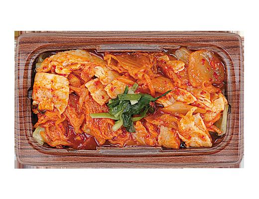 ローソンで買える人気の低カロリー食品「豚キムチ炒め」
