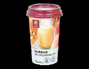 コンビニの人気飲み物(ジュース)「ローソン NL 岡山県産白桃フルーツミックススムージー 200g」