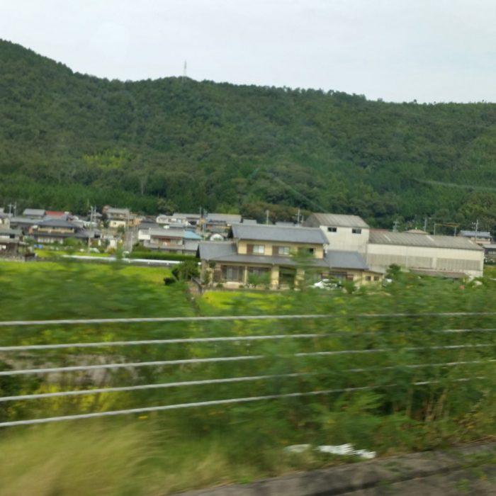高山わんわんパラダイスホテルに向かう途中の高速からの風景