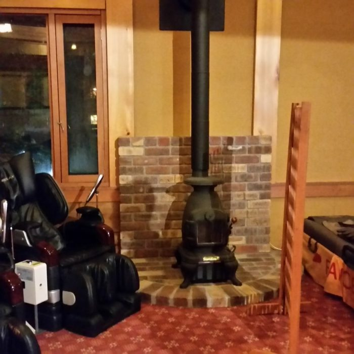 高山わんわんパラダイスホテルの温泉棟のマッサージチェア