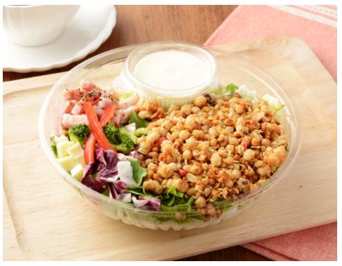 ローソンで買える夜食人気ランキング【フルグラ®をかけて食べるチョップドサラダ】
