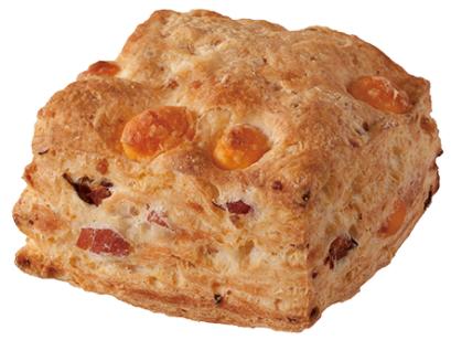 コンビニで買える人気朝ごはん「ベーコンチーズビスケット」