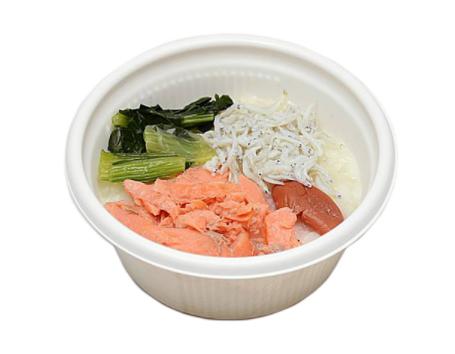 セブンイレブンで買える夜食人気ランキング【炙り焼き紅鮭と梅の和風がゆ】