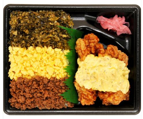 ファミリーマートで買えるお弁当人気ランキング【3色そぼろ&チキン南蛮弁当】