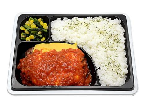 セブンイレブンで買えるお弁当人気ランキング【トマトチーズハンバーグ弁当(アンガス種牛肉使用)】