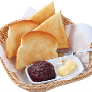 コメダ珈琲店の小倉トースト