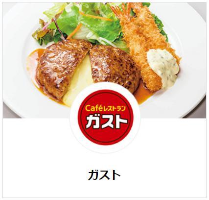 ガストの食べ物人気ランキング