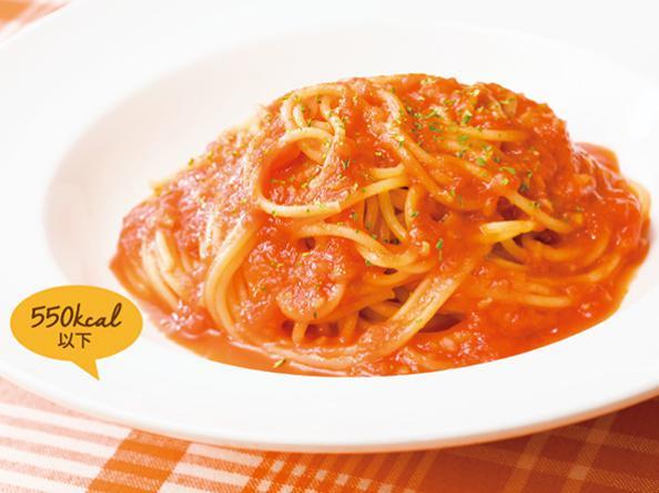 ガストのお食事人気メニューのトマトソーススパゲティ