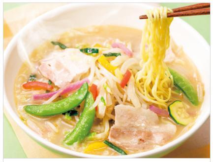 ガストのお食事人気メニューの1日分の野菜のベジ塩タンメン