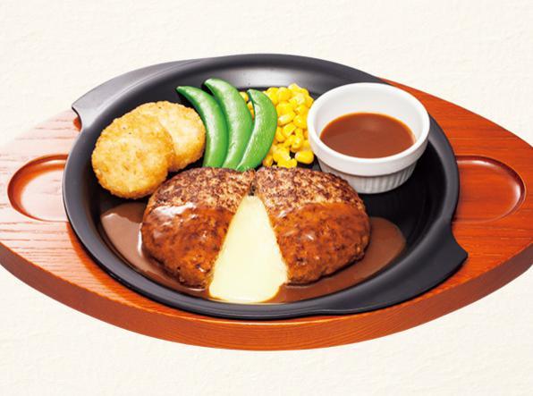 ガストのお食事人気メニューのチーズINハンバーグ