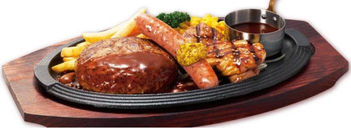 ロイヤルホストの食べ物人気メニューのトリプルグリル