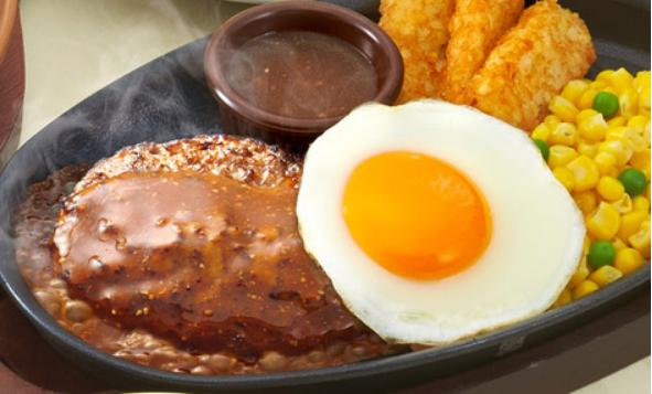 サイゼリヤのお食事人気メニューのハンバーグステーキ