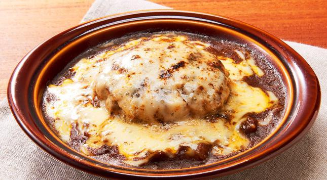 デニーズのお食事人気メニューのハンバーグカレードリア