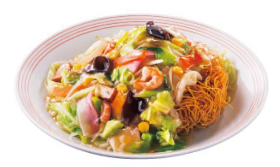 リンガーハットのお食事人気メニューの長崎皿うどん