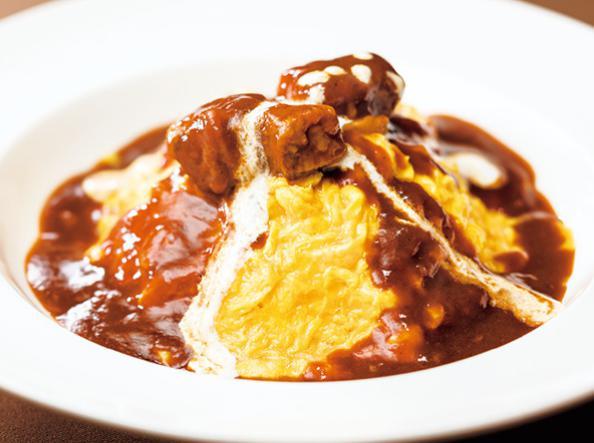 ガストのお食事人気メニューのオムライスビーフシチューソース