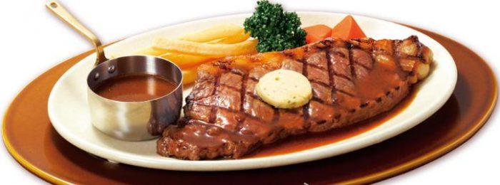 ロイヤルホストの食べ物人気メニューのロイヤルアンガスサーロインステーキ