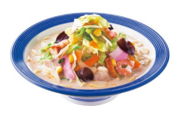 リンガーハットのお食事人気メニューの野菜たっぷりちゃんぽん